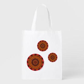Fire Mandala Reusable Grocery Bag