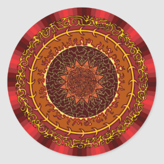 Fire Mandala Sticker