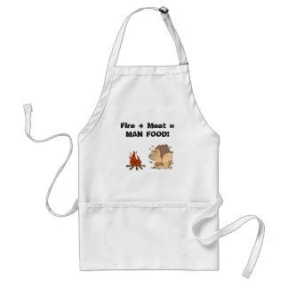 Fire + Meat = MAN FOOD! Adult Apron