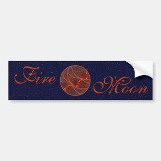 Fire Moon Bumper Sticker