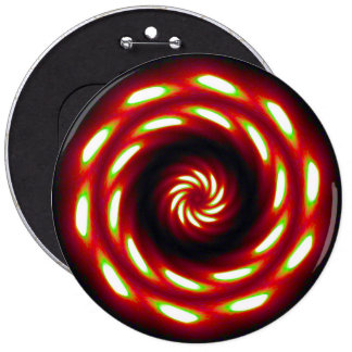 Fire Moon Mandala 6 Cm Round Badge