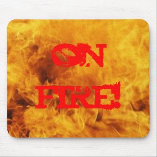 fire mouse mat