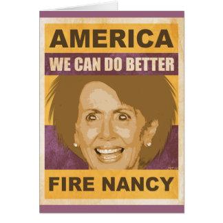 Fire Nancy Pelosi Greeting Card