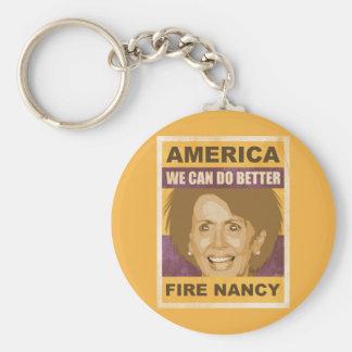Fire Nancy Pelosi Keychains