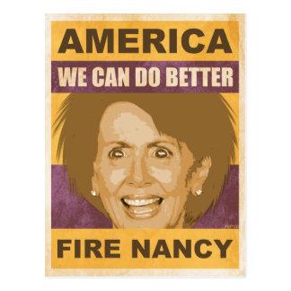Fire Nancy Pelosi Postcard