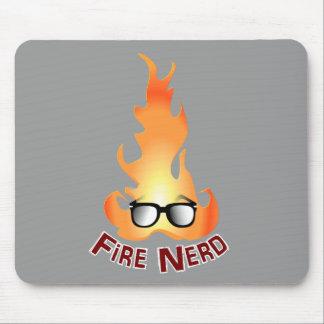 """""""Fire Nerd"""" Cool Fire Mousepads"""