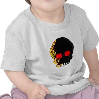 Fire On Skull T-shirts