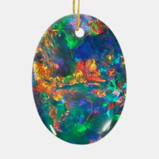 Fire Opal Ceramic Oval Decoration