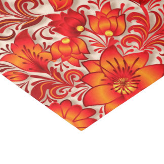 Fire orange pattern tissue paper