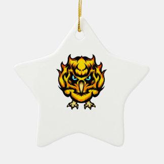 Fire Owl Christmas Ornament