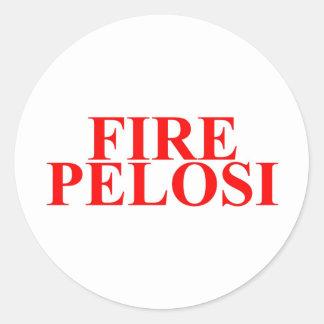 Fire Pelosi Classic Round Sticker