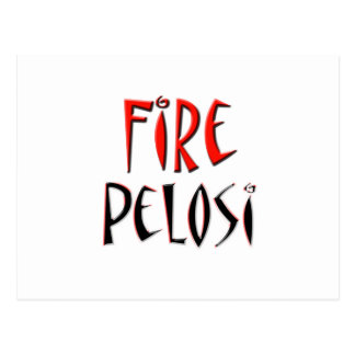 Fire Pelosi Red and Black Design Postcard