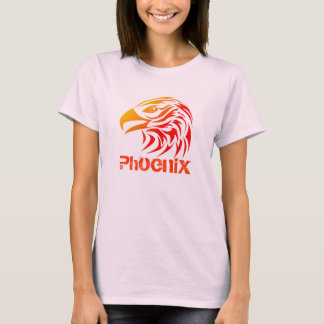 Fire Phoenix (F, w/ Text, Color Option) T-Shirt