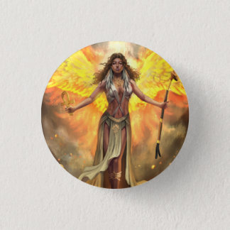 Fire Phoenix Ma'at Button