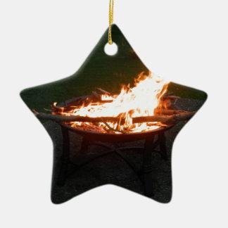 Fire pit bonfire image ceramic star decoration