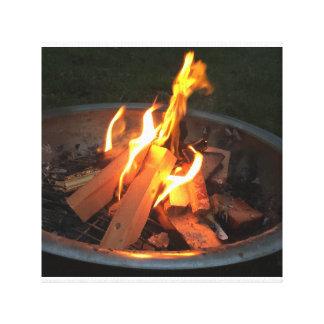 Fire pit canvas