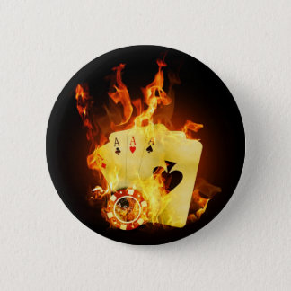 Fire Poker 6 Cm Round Badge