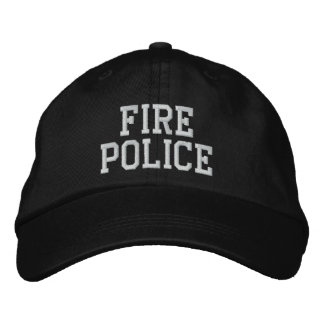 fire police hat embroidered hat