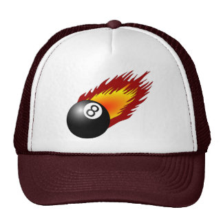 fire pool ball sports game team flame Billiards Trucker Hat