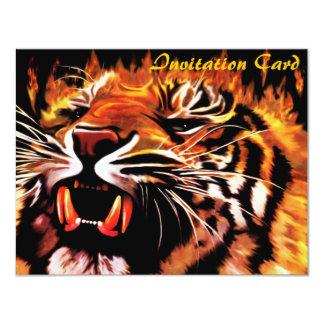 Fire Power Tiger Invitation Card