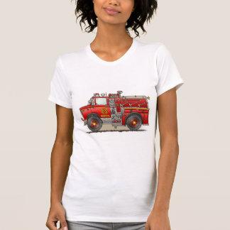 Fire Pumper Rescue Truck Girls T-Shirt