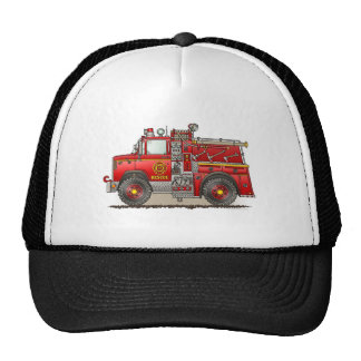 Fire Pumper Rescue Truck Hat