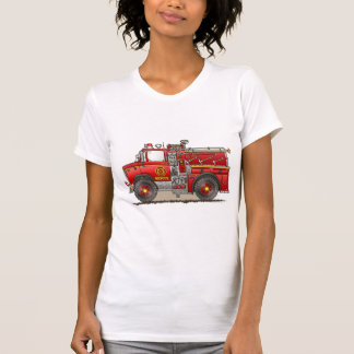 Fire Pumper Rescue Truck Ladies Tank Top