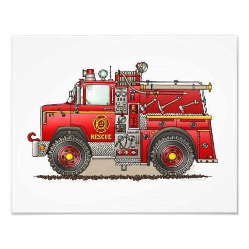 Fire Pumper Rescue Truck Photo Print