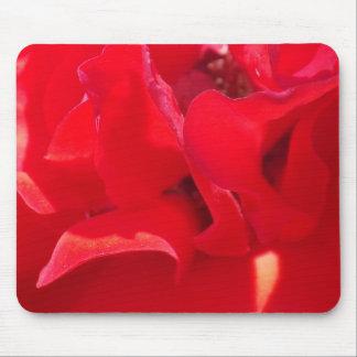Fire Red Petals Mousepad