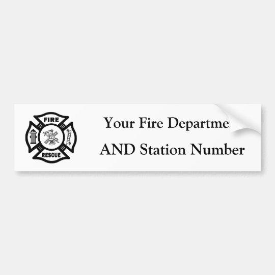 Fire Rescue Bumper Sticker