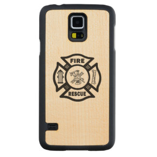 Fire Rescue Carved Maple Galaxy S5 Case