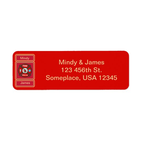 Fire-Rescue EMT Wedding Address Label