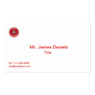 Fire Rescue First Responder Pack Of Standard Business Cards