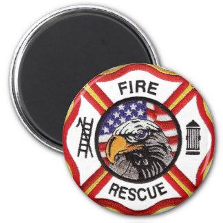 Fire Rescue Maltese Cross Magnet
