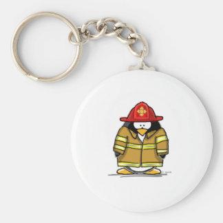 Fire Rescue Penguin Key Ring