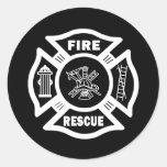 Fire Rescue Round Sticker