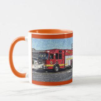 Fire Rescue Truck Emergency Vehicle Mug