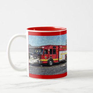 Fire Rescue Truck Emergency Vehicle Two-Tone Coffee Mug