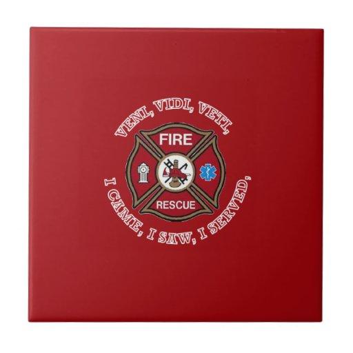 Fire Rescue VVV Maltese Cross Tile