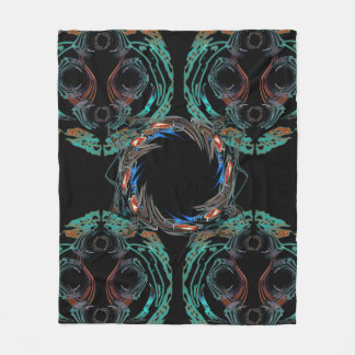 Fire Ring Fleece Blanket