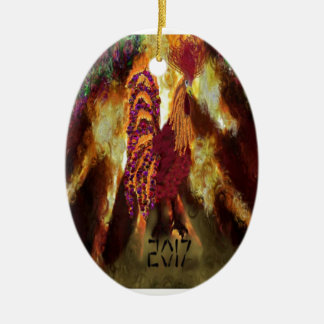 Fire Rooster 2017 Christmas Ornament