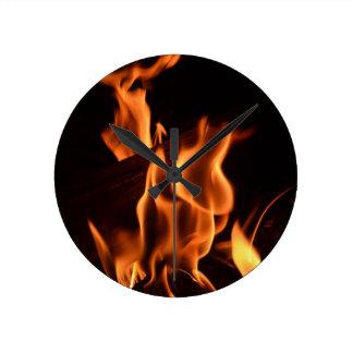 Fire Round Clock