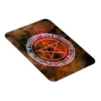 Fire Rune Circle Pagan Pentacle Art Magnet