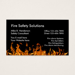 Safety business cards business card printing zazzle uk fire safety products business card reheart Image collections