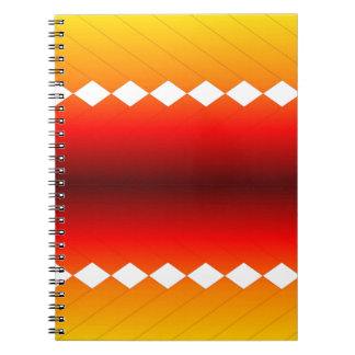 Fire Scale with Diamonds Note Books