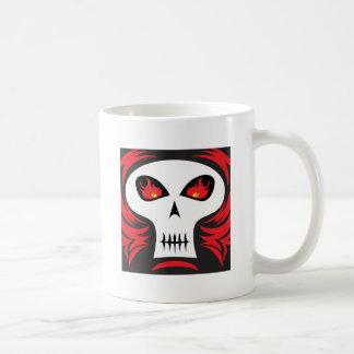 Fire Skull Basic White Mug
