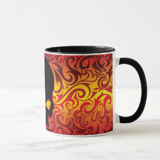 Fire skull Coffee Cup