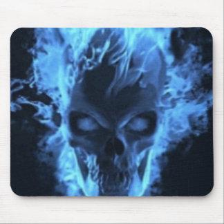 fire skull mousepad