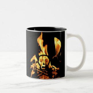 Fire Skull Coffee Mug