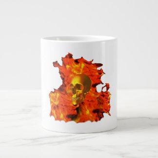 Fire skull Mug (3) styles Jumbo Mug